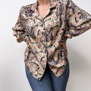 🖤 Vintage Paisley Shirt